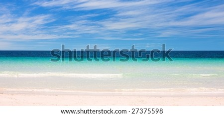 Scenic view over a south pacific beach in Albany Australia - stock photo