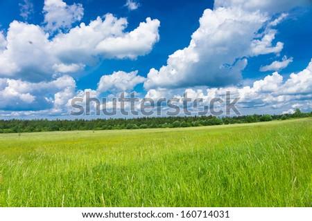 Scenic View Plain Nature  - stock photo