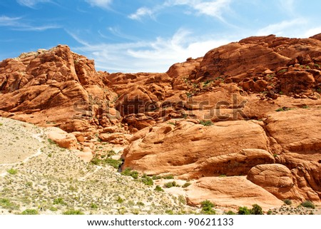 Scenic view, Red Rock Canyon State Park, Nevada, USA - stock photo