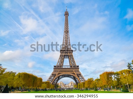 scenic view the eiffel with blue sky