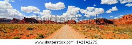Scenic View through Valley of the Gods - stock photo