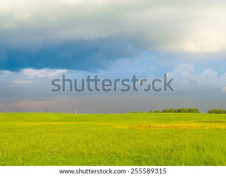 Scenic View Vibrant Springtime  - stock photo