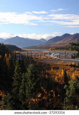 Scenic viewpoint in Denali National Park - stock photo