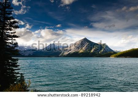 Scenic views of Kananaskis Lakes Alberta Canada - stock photo