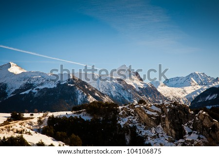 Scenic views of the Alpine mountain