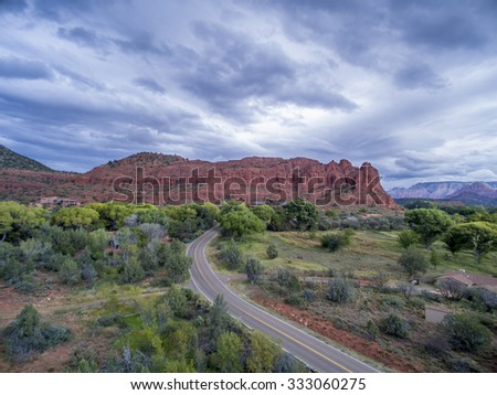 Scenic views of the Southwest United States - stock photo