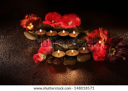 scented candles - stock photo