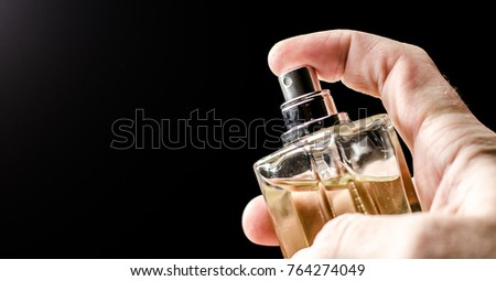 scents perfume, on a dark background