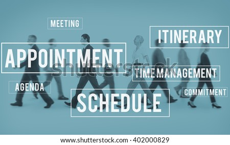 Schedule Appointment Itinerary Commuter Concept - stock photo