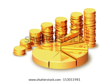 Schedule of revenue growth. - stock photo