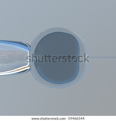 schematic representation of a cloning experiment frontal view - stock photo
