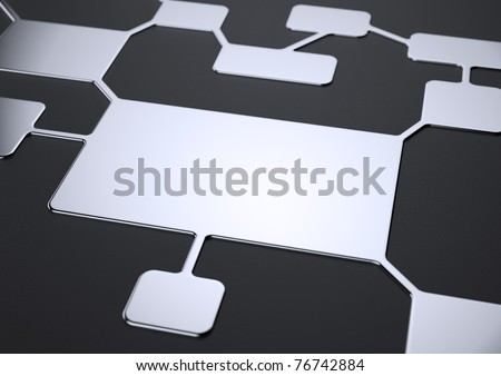 Scheme of the business organization. Sequence of organizational decision - stock photo