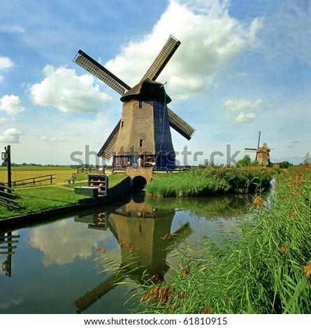 Schermer Polder, Netherlands - stock photo