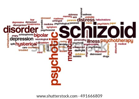 Schizoid word cloud concept