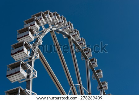 Schleswig Holstein, Germany, May 09, 2015: Ferris wheel at the Harbour Birthday in Hamburg on May 9th, 2015 - stock photo