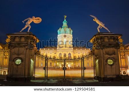 Schloss Charlottenburg in Berlin, Germany - stock photo