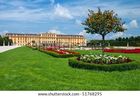 Schonbrunn Palace in Vienna. Austria - stock photo