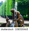 Schonbrunn palace park in Vienna Austria - Fountain detail - stock photo