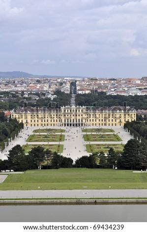 Schonbrunn Palace, Vienna, Austria - stock photo