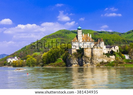Schonbuhel castle, Danube river, Austria - stock photo