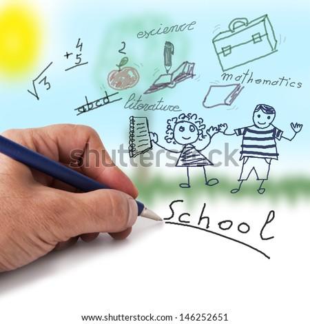 school - stock photo