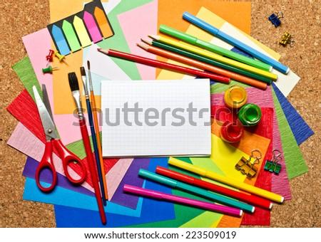 School accessories - stock photo