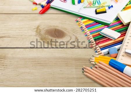 School, back, pencil. - stock photo