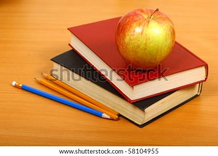 School background - stock photo
