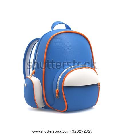 School backpack  - stock photo
