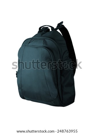 School bag isolated on white