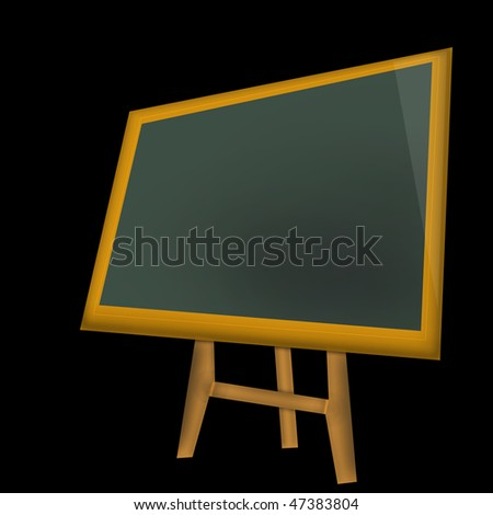 school blackboard isolated on blackbackground