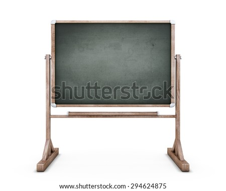 School board front view on a white. 3d illustration. Template for labeling