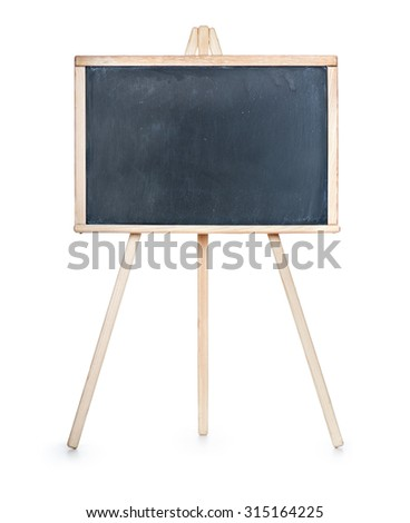 School board isolated on a white background - stock photo