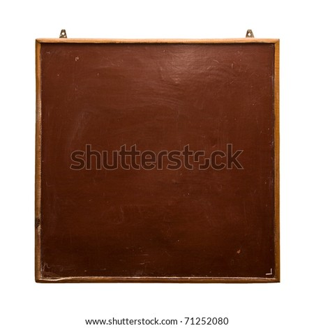 school board on a white background - stock photo