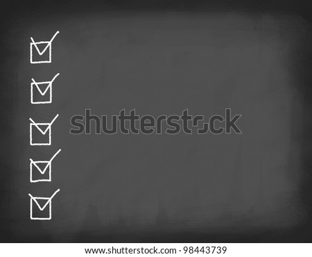 School board with chalk marks and space for text. - stock photo