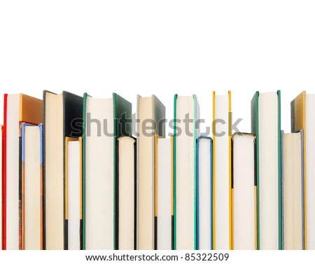 School books border - stock photo