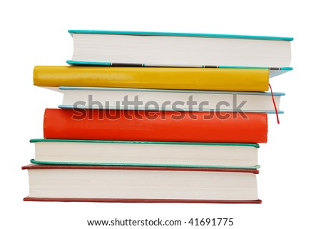 school books collection - stock photo