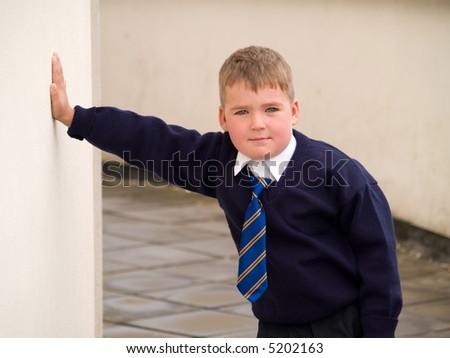 school boy - stock photo