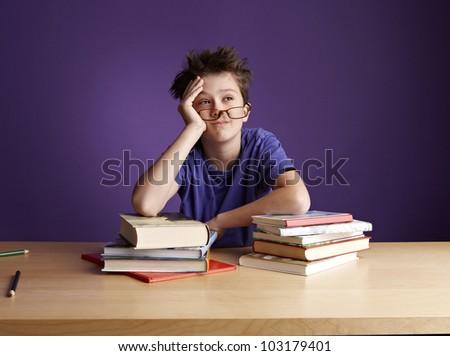 School Boy Dreaming - stock photo