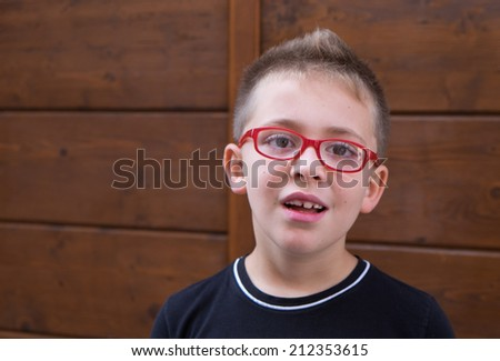 School boy outdoor portrait. - stock photo