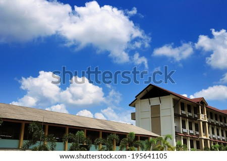 School building during great day - stock photo
