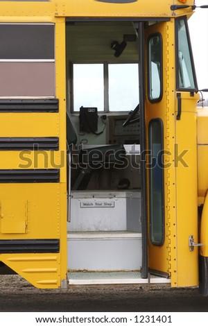 School Bus Door - stock photo