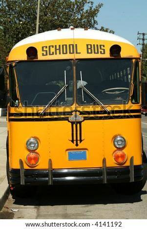 School Bus Front - stock photo