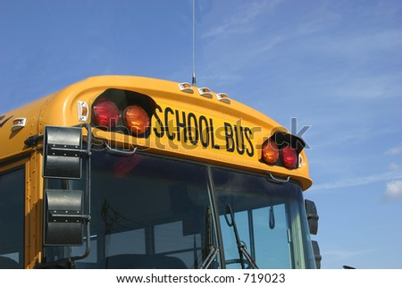 School bus front end
