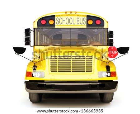 School bus front view