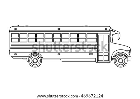 school bus illustration isolated on a white background