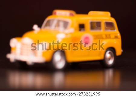 school bus in blurry for background - stock photo