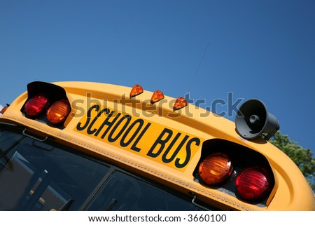 School bus ready for back to school - stock photo