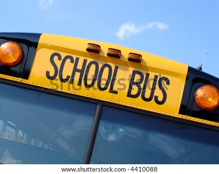 School bus top - stock photo