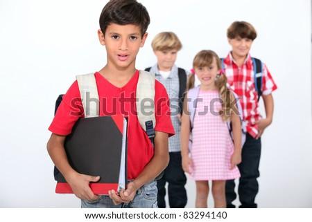 School children - stock photo